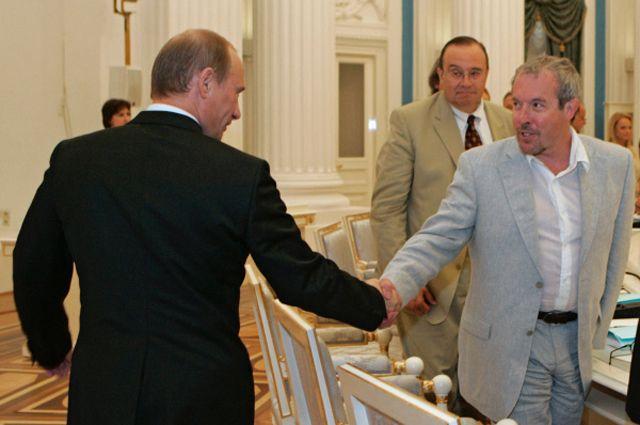 Президент России Владимир Путин, музыкант Андрей Макаревич, 2007 год.