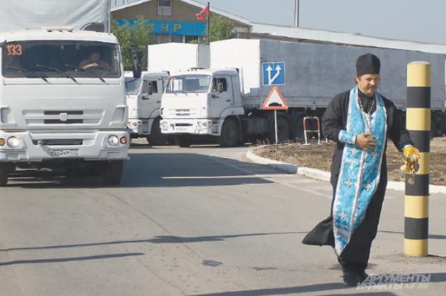 «Гуманитарка» из России дошла до Луганска с Божьей помощью...