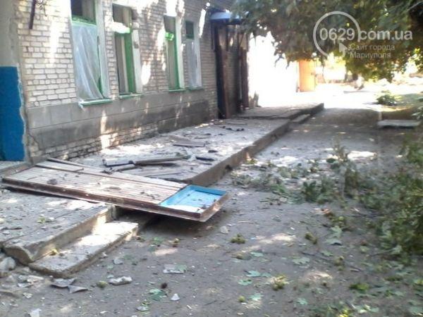 В Новоазовске снаряд попал в больницу
