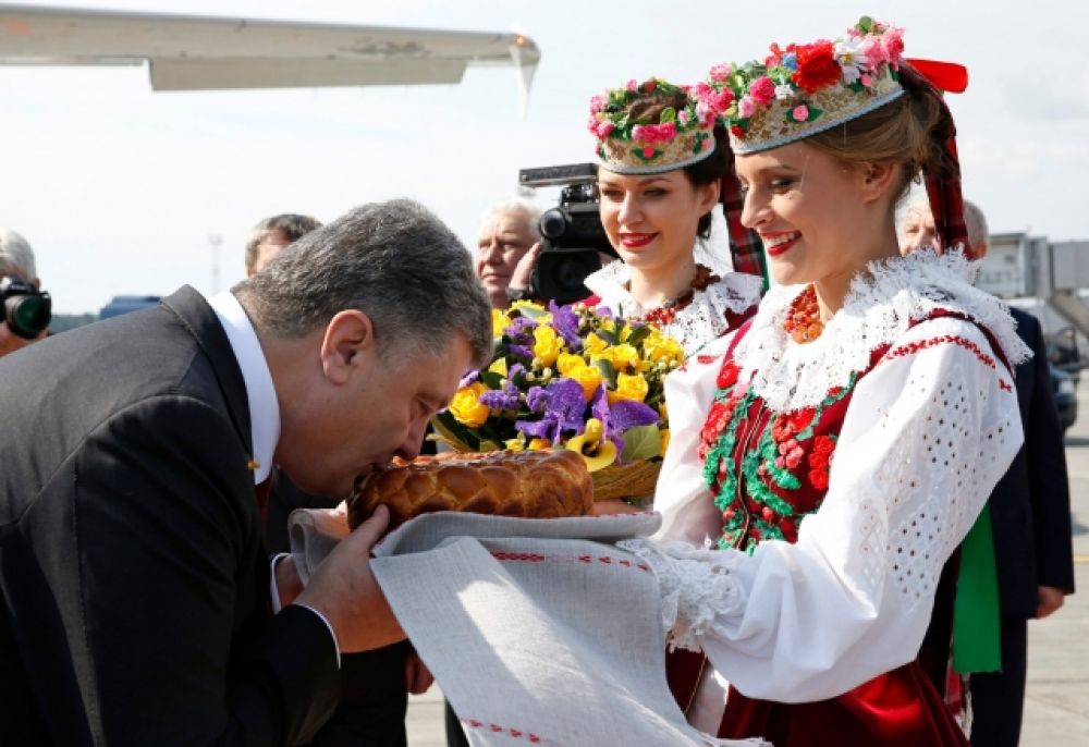 Президент Украины Петр Порошенко прибыл в Минск
