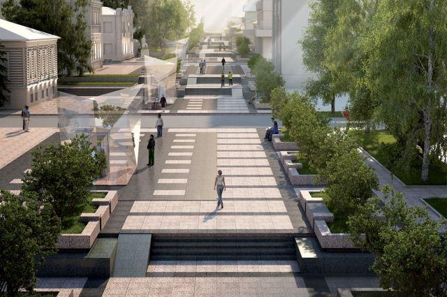 Обновлённая улица должна стать украшением города.