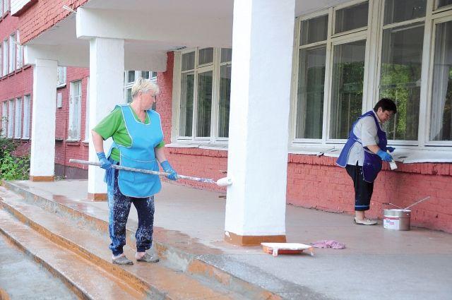 В омских школах завершаются ремонтные работы.