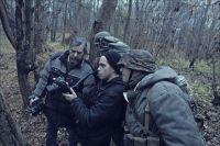 Евгений Морозов (слева) и Евгений Спиваков (в центре) снимают фильм о разведчиках группы «Джек».