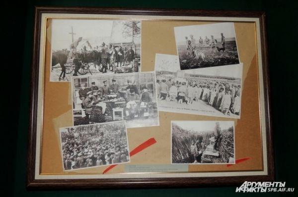 В зале Корфа выставлены фотографии с самого фронта.