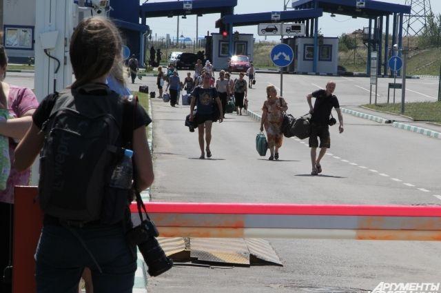 На одном из КПП украинско-российской границы