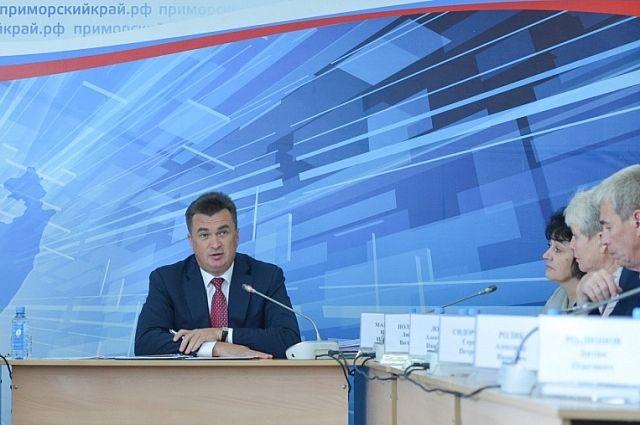 Выездное заседание администрации Приморского края в Ольгинском районе.