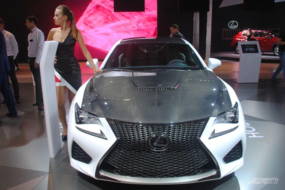 На стенде Lexus состоится российская премьера экстремального спортивного купе RC F. Это флагманская модель F-серии, ставшая самым мощным автомобилем с двигателем V8 в истории бренда. Кроме того, на Московском международном автомобильном салоне состоится первый российский показ Lexus RC - нового динамичного премиум-купе с ярким, эмоциональным дизайном. RC оснащается мощным 3,5-литровым двигателем V6 и 8-ступенчатой автоматической трансмиссией.