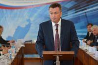 Владимир Миклушевский на выездном заседании в Хорольском районе.