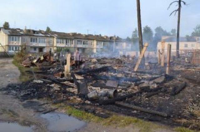 Последствия пожара в Первомайске