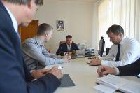 На встрече с руководством Ярославского ГОКа.
