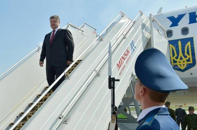Порошенко в аэропорту Минска