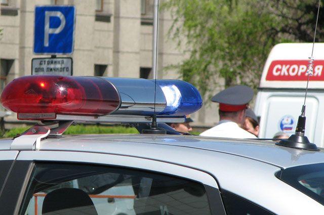 Скорая и милиция на месте ДТП