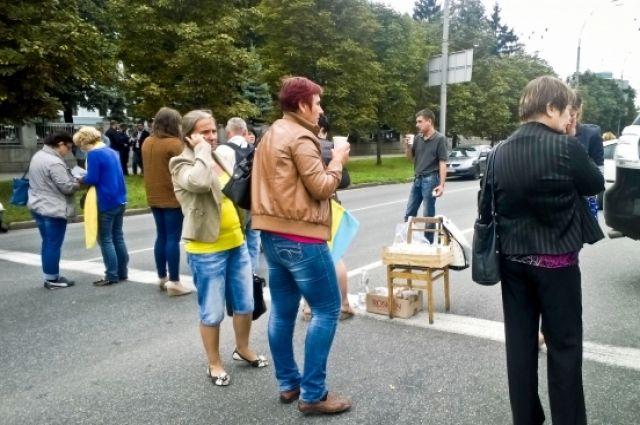 Украинские патриоты организовуют митинг против сепаратизма
