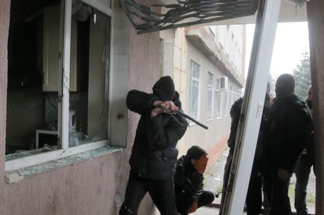 Боевики в Горловке