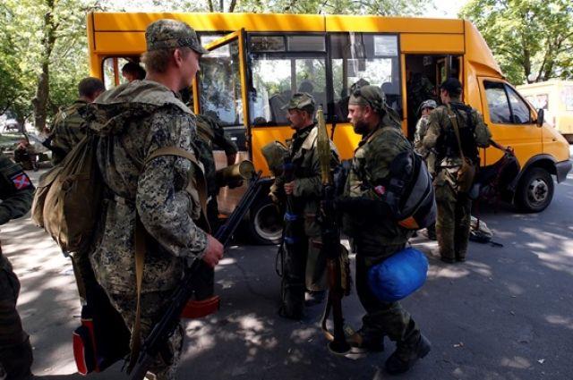 Бойцы батальонов на Донбассе