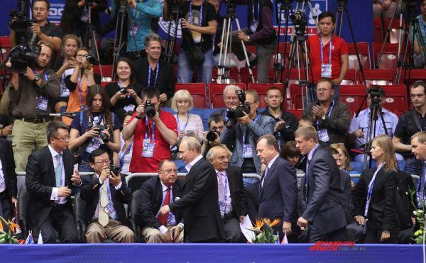 Прибытие президента РФ Владимира Путина на чемпионат мира по дзюдо.