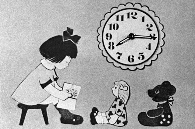 Заставка перед началом телевизионной передачи «Спокойной ночи, малыши!». 1971 год.