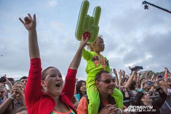 На фестиваль приходили с детьми.