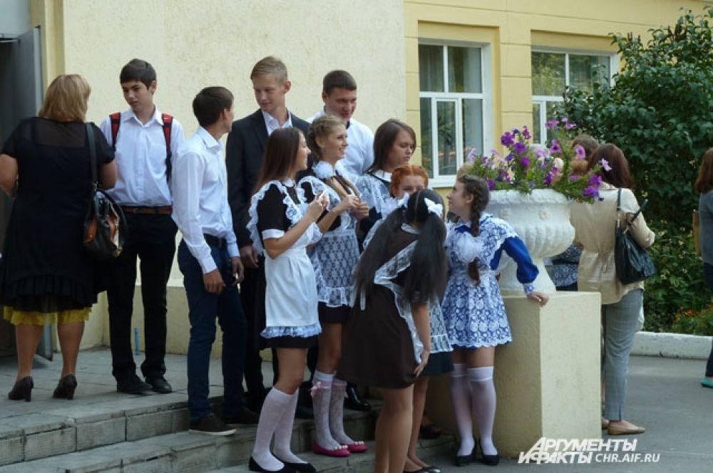 Учащиеся школы № 8 встретили День знаний в праздничной форме