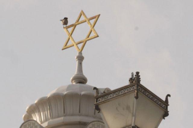 Купол на здании Московской хоральной синагоги.