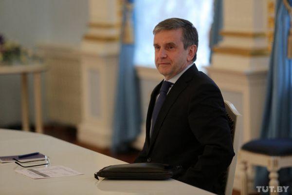 Российский представитель на встрече в Минске Михаил Зурабов