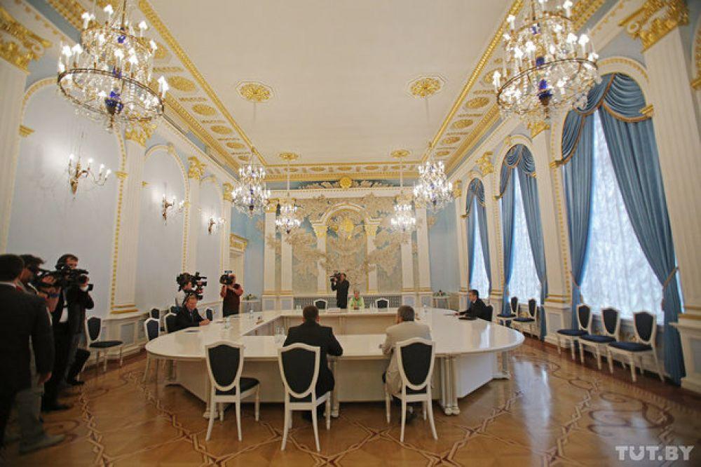 Дом приемов в столице Беларуси, где проходит контактная встреча