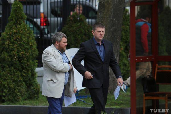 Представители ДНР и ЛНР Андрей Пургин и Алексей Карякин