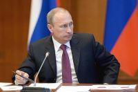 Президент России Владимир Путин на совещании по вопросам государственной поддержки приоритетных инвестиционных проектов.
