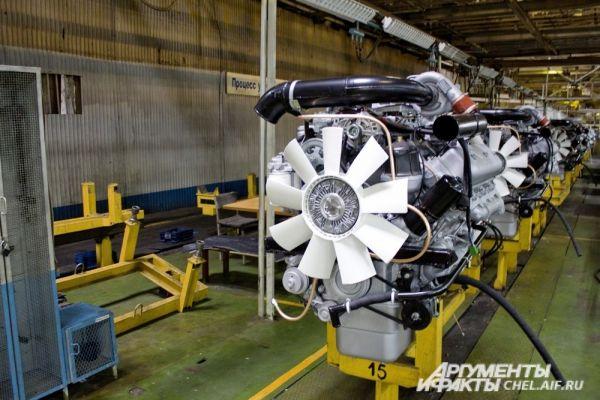 Участок сборки двигателей.