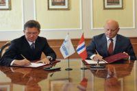 Виктор Назаров и Алексей Миллер подписали соглашение о сотрудничестве.