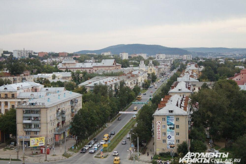 Вид с 12 этажа Инженерного корпуса на пр-т Автозаводцев.