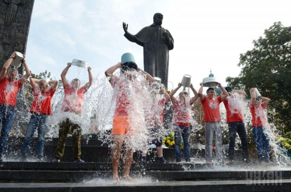 Ice Bucket Challenge во Львове