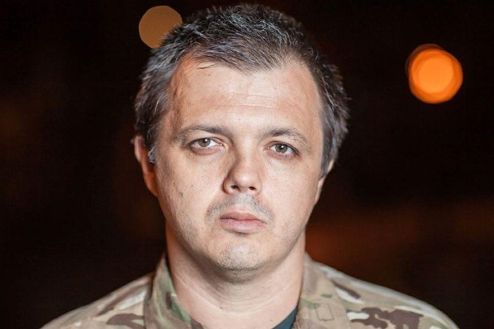 Комбат «Донбасса» Семен Семенченко без маски