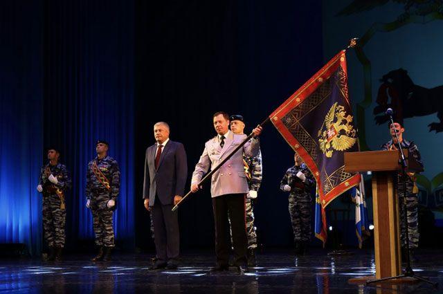 Новое знамя полиции Иркутской области.