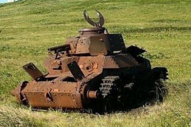 Японский танк на острове Шумшу