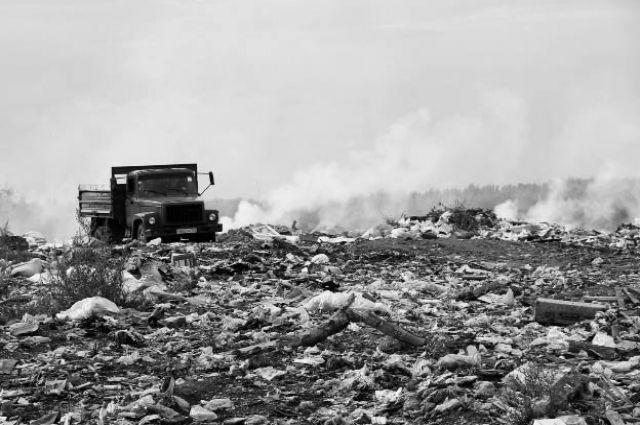 В дыму свалки трудно разглядеть перспективы санитарной очистки города.