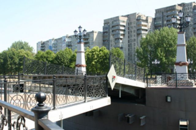 Юбилейный мост в Калининграде.
