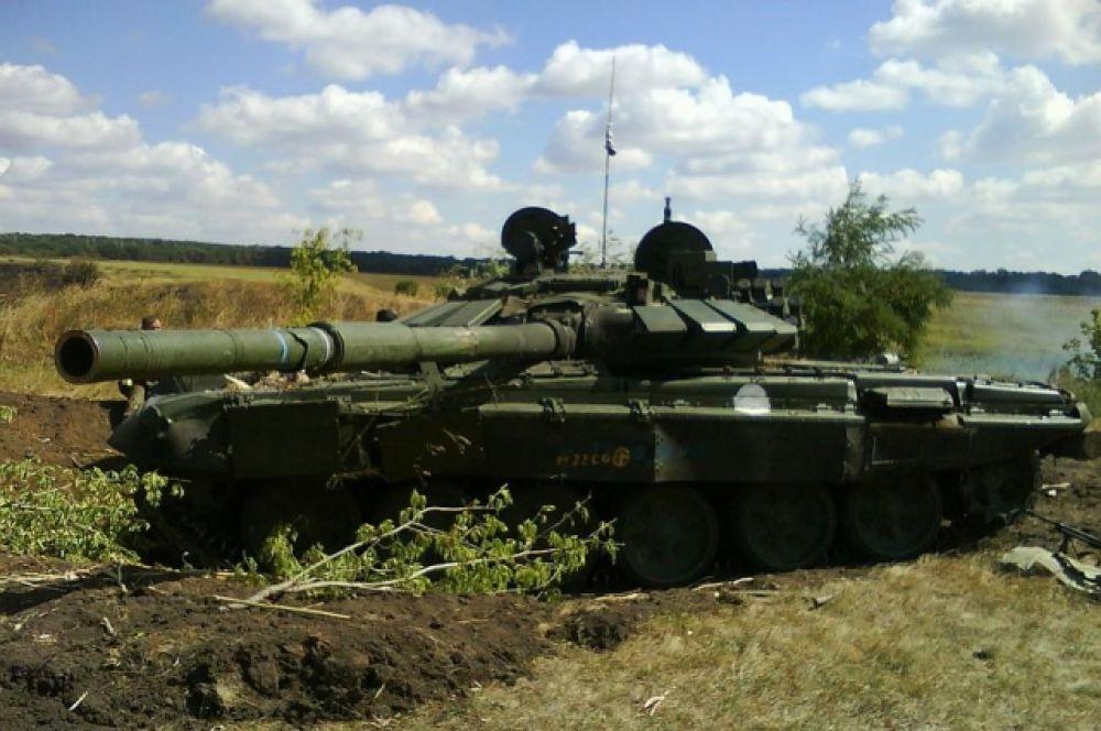 Уничтоженная бронетехника боевиков