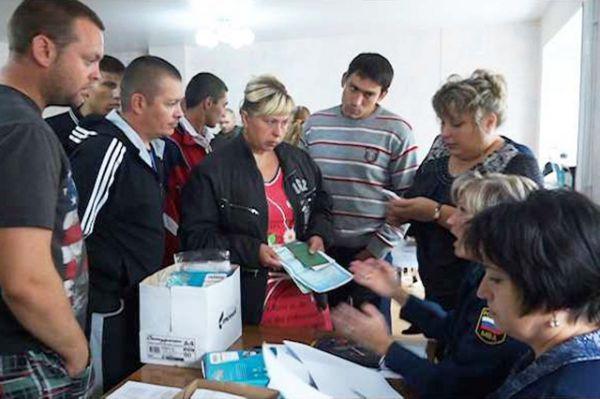 Утром 3 сентября вынужденные переселенцы смогли получить все необходимые консультации.