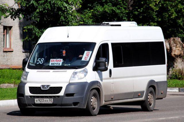 Маршрутное такси №58 в Брянске