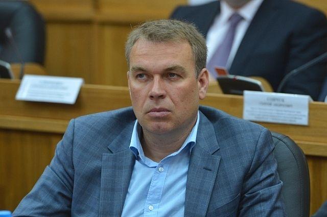 депутат Законодательного Собрания Дмитрий Новиков.