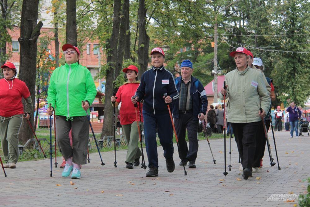 Пенсионеры приняли участие в «забеге»