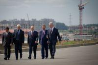 Владимир Путин на объекте строительства Центральной кольцевой автодороги (ЦКАД).
