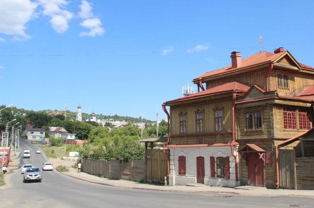Дом-музей Павла Кузнецова на Октябрьской улице.