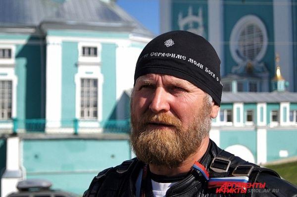 Руководитель мотопробега Андрей Коченов