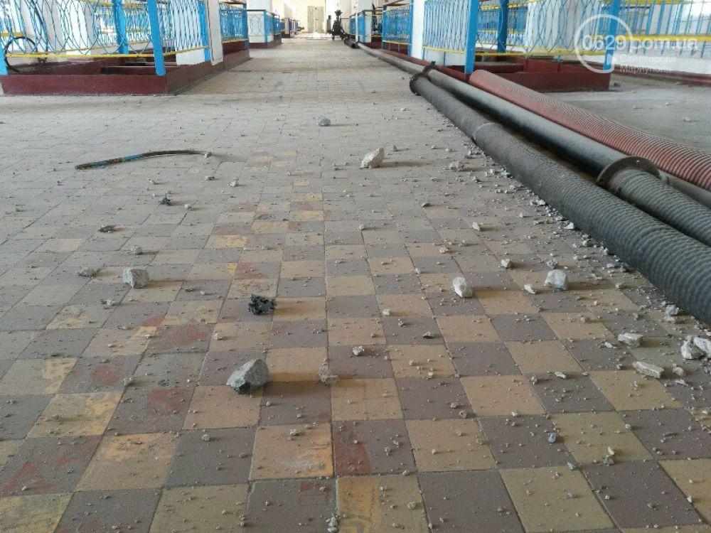 В Мариуполе снаряд попал в фильтровальную станцию Старокрымского карьера