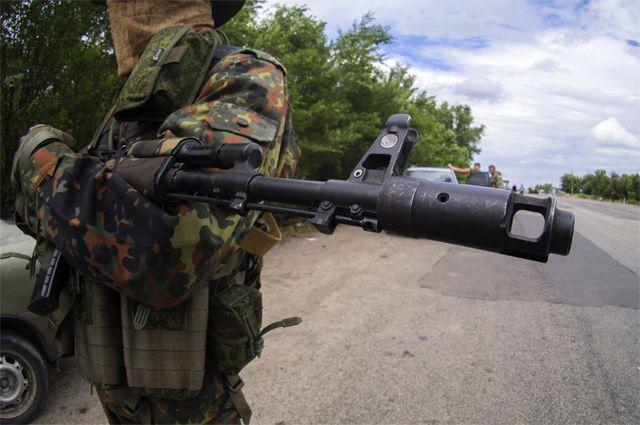 Обстрел блокпоста в Мариуполе