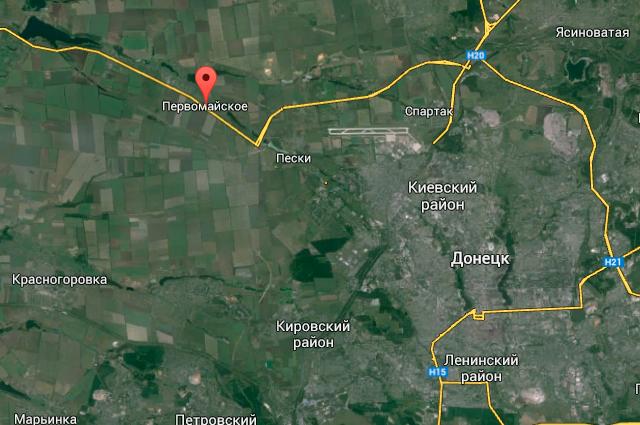 Населенный пункт Первомайское на карте Google