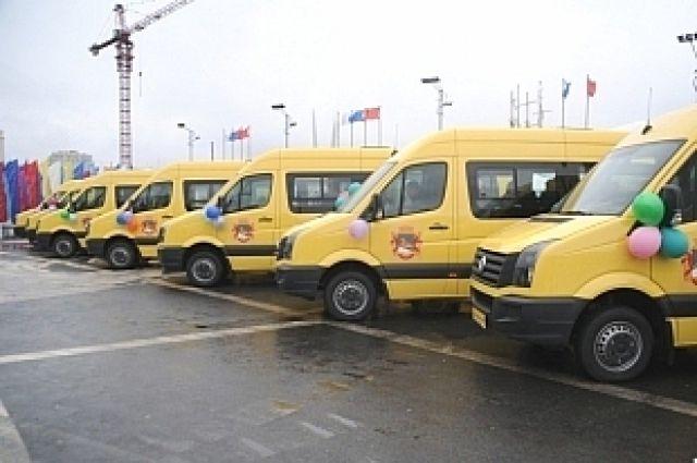 Муниципальные автобусы выделяются яркой окраской.