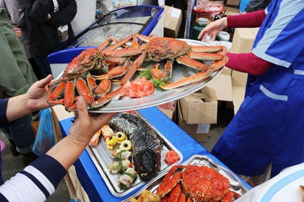 Свежайшие морепродукты.